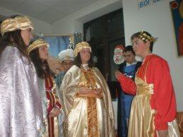 Цар Ирод приема мъдреците в двореца