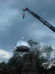 Издигане на новия купол