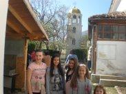"""В двора на средновековната църква """"Света София"""""""
