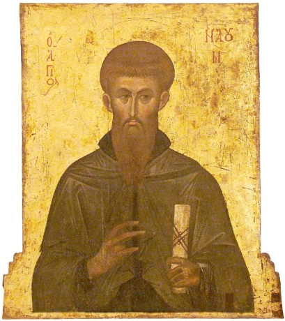 St_Naum_of_Ohrid,_Last_Quarter_of_XIV_Century,_St_Mary_Perivleptos_Church,_Ohrid_Icon_Gallery