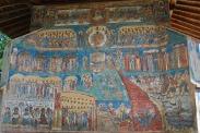 Страшният съд - външен стенопис от Воронец