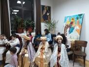 Децата и преподавателите изобразиха разказа за бягството в Египет